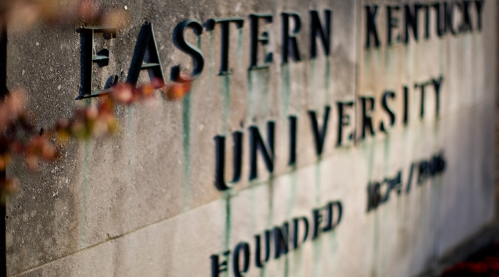 Eastern Kentucky University entrance sign